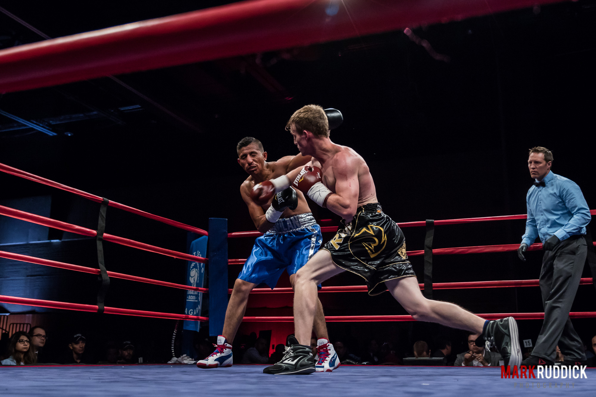 Bradley Wilcox out of Steeltown Boxing in Hamilton Ontario wins his first professional fight by way of TKO.