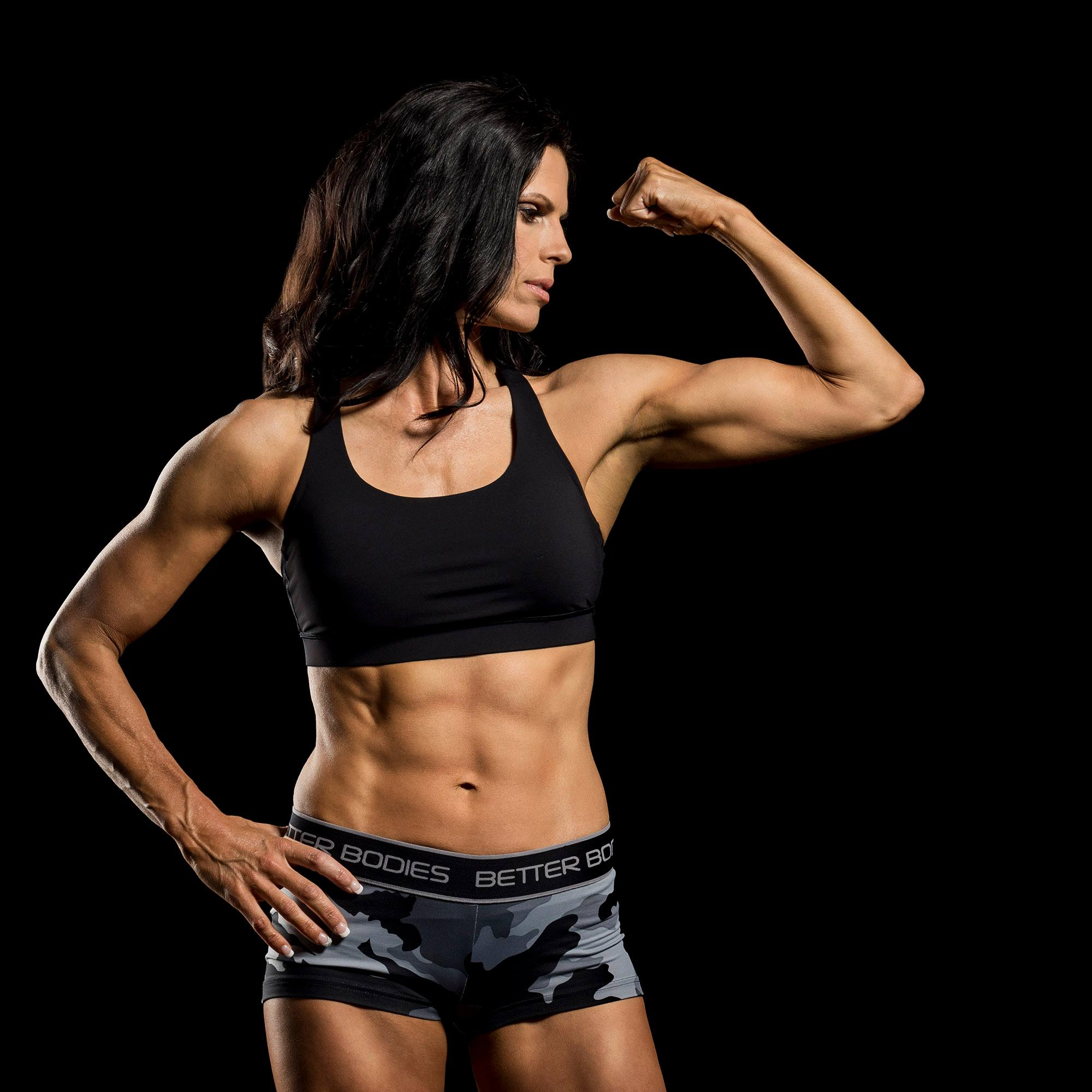 Terri here showing off her superior arms and abs.