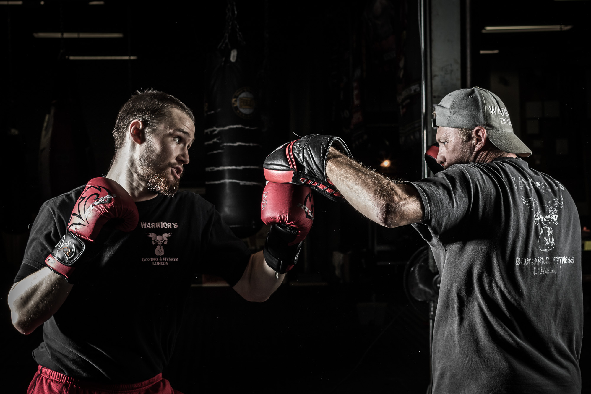 Working with trainer Rob Caron of Warrior's Boxing and Fitness