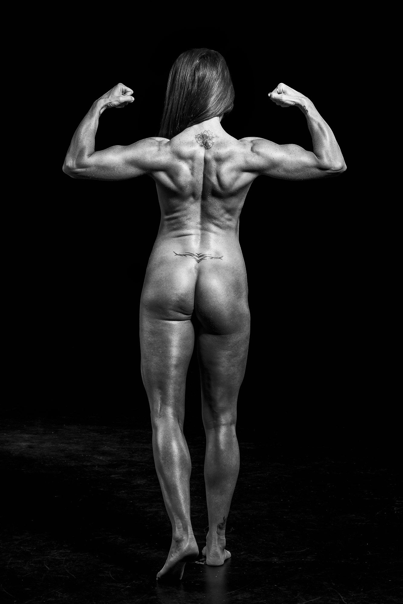 The rear double biceps pose shows off the back nicely.