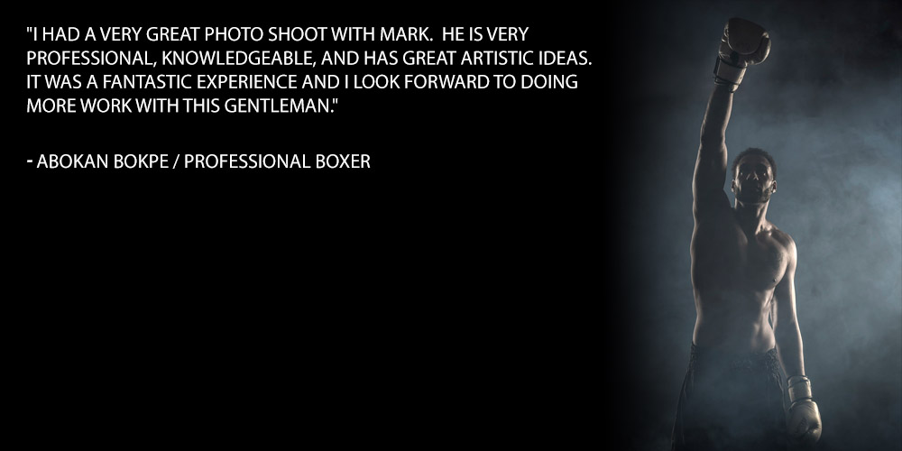 I had a very great photo shoot with Mark. He is very professional, knowledgeable, and has great artistic ideas. It was a fantastic experience and I look forward to doing more work with this gentleman.