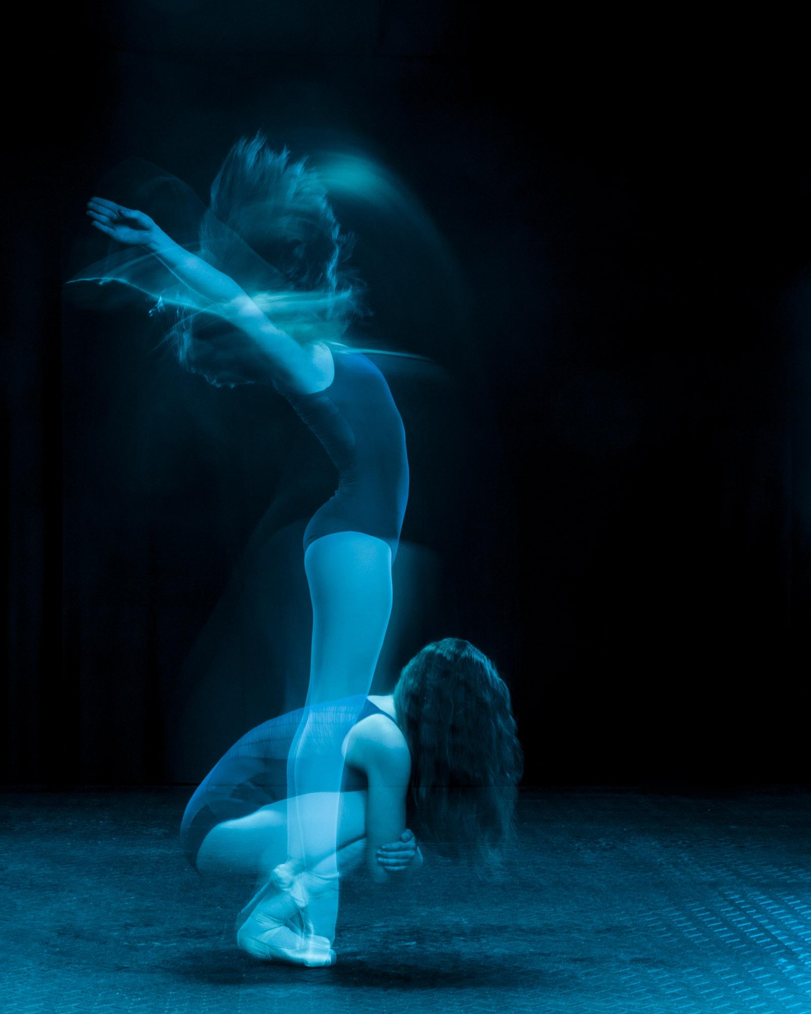 Double exposure dancer