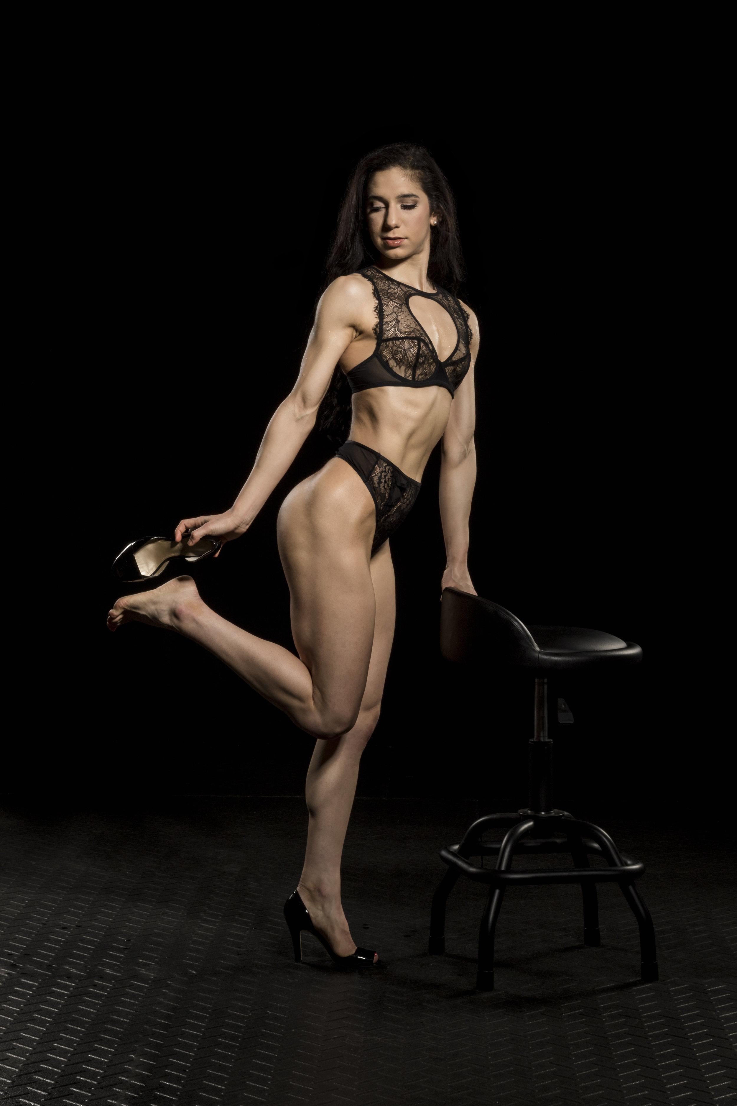 Posing in heels