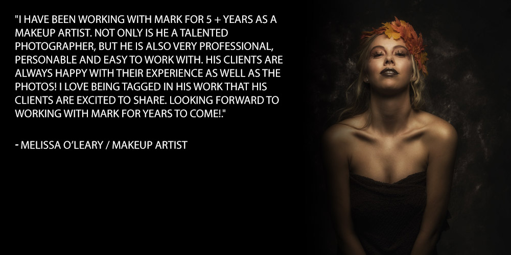 I have been working with mark for 5 + years as a makeup artist. Not only is he a talented photographer, but he is also very professional, personable and easy to work with. His clients are always happy with their experience as well as the photos! I love being tagged in his work that his clients are excited to share. Looking forward to working with Mark for years to come!.