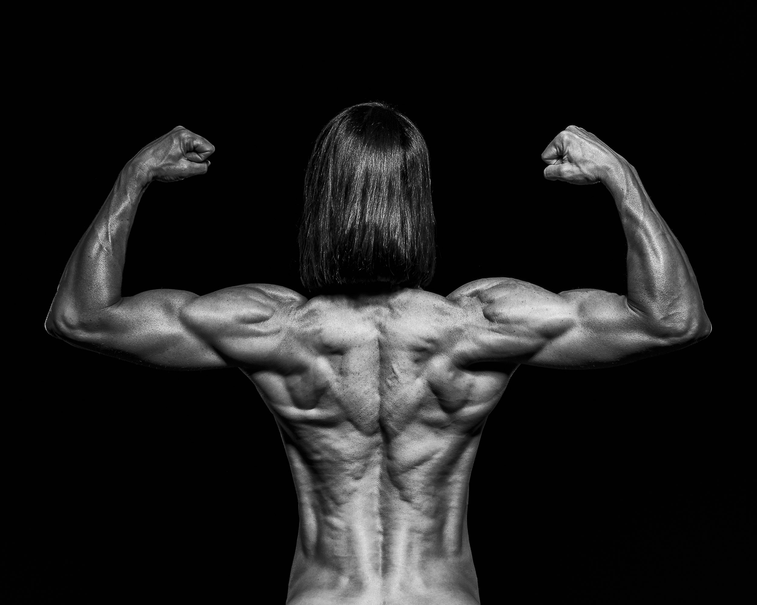 Rear double bicep is a great way to show off the whole back.
