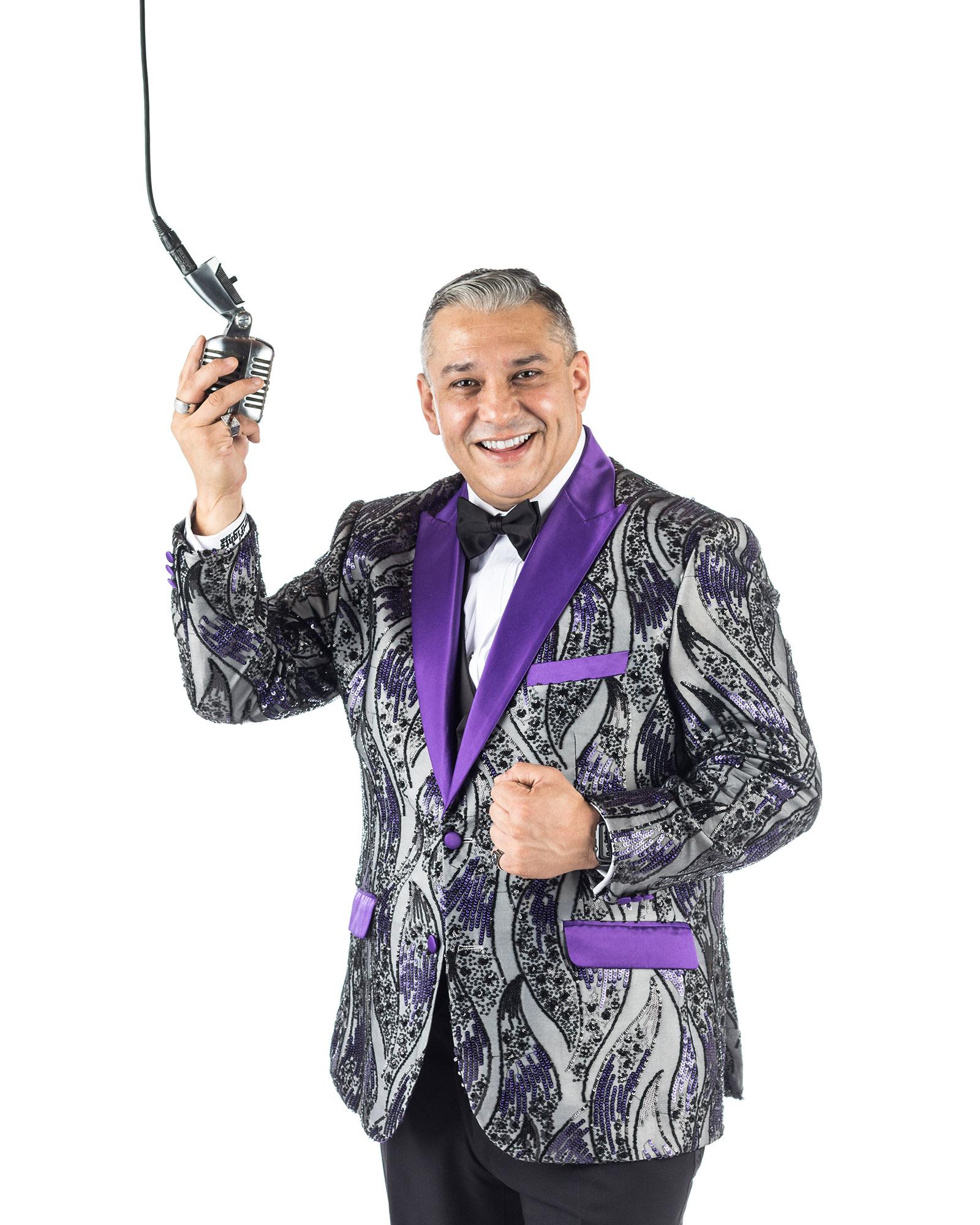 "Ring announcer - Pete Trevino ""Mr. Throwdown"""