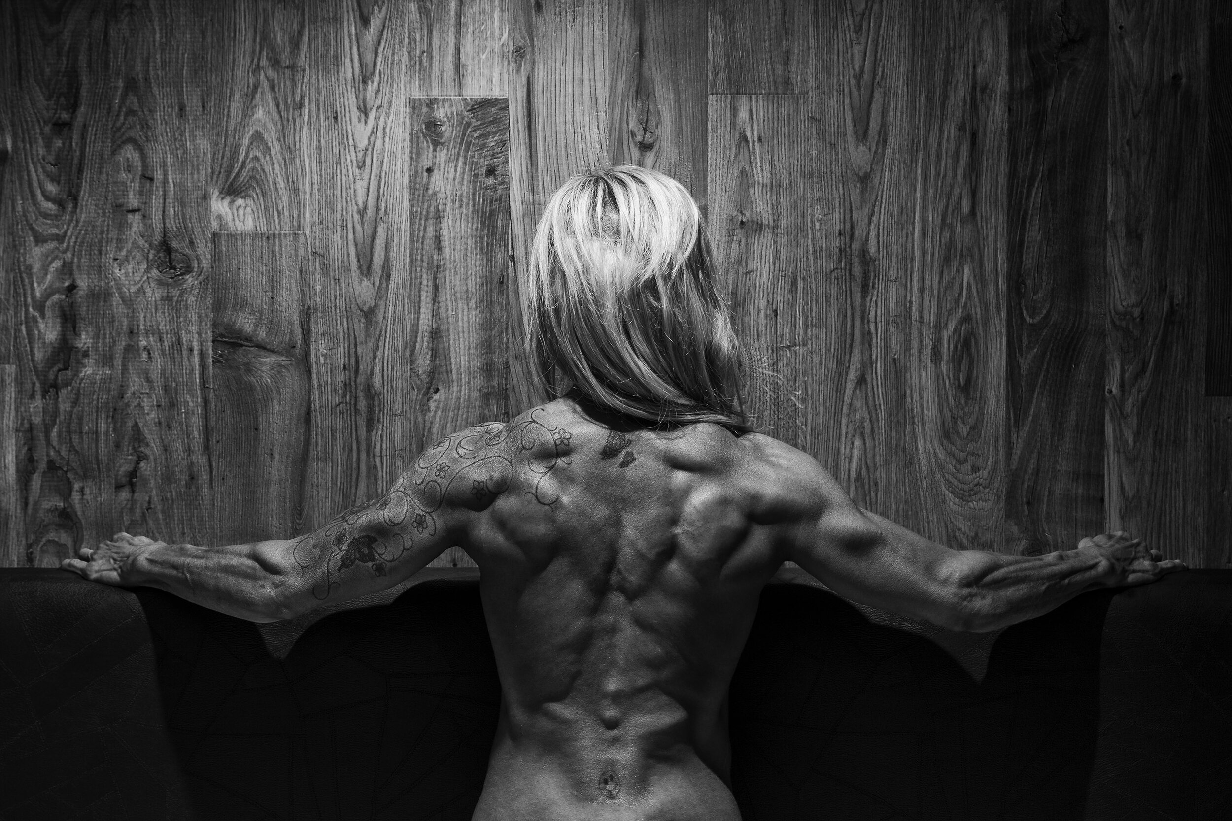 Arms and back.