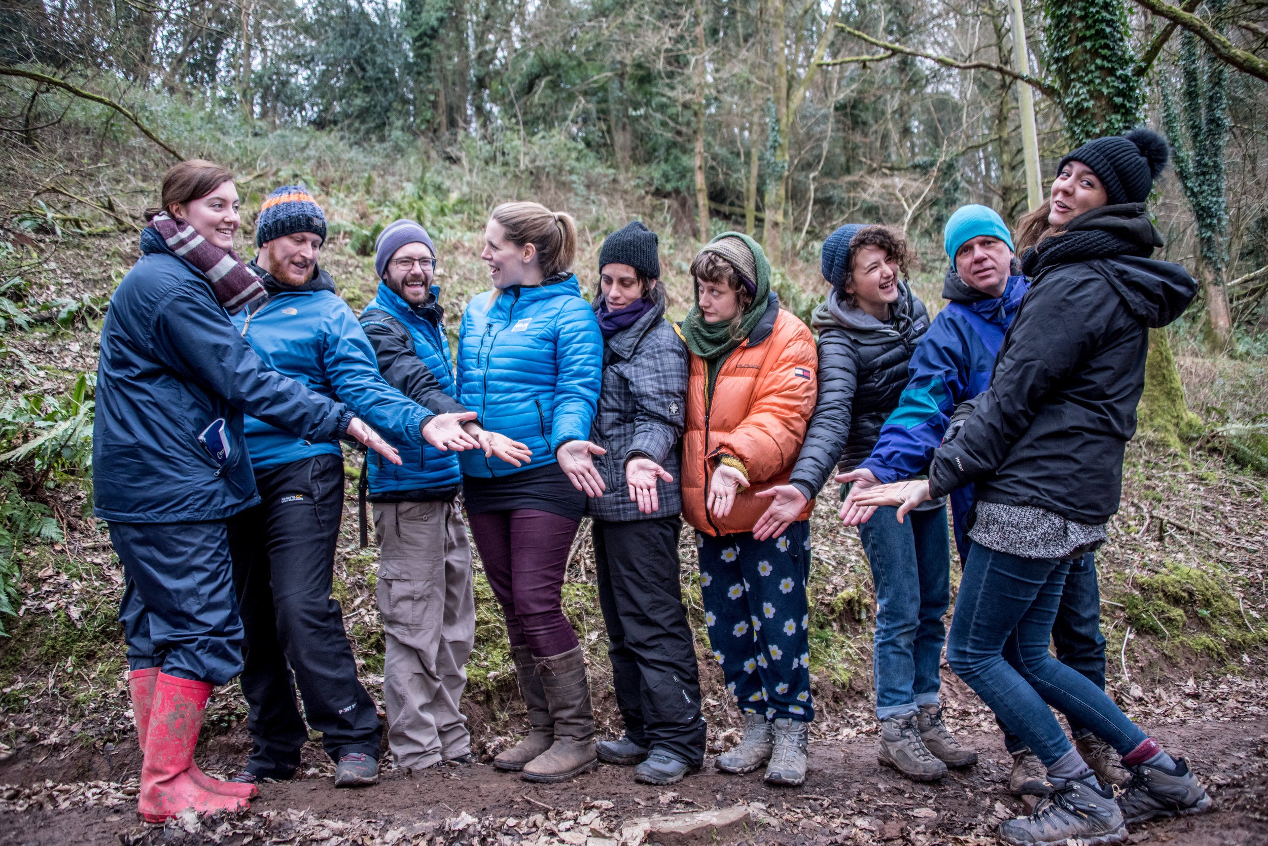 Go Wild Forest School Training show of hands.jpg
