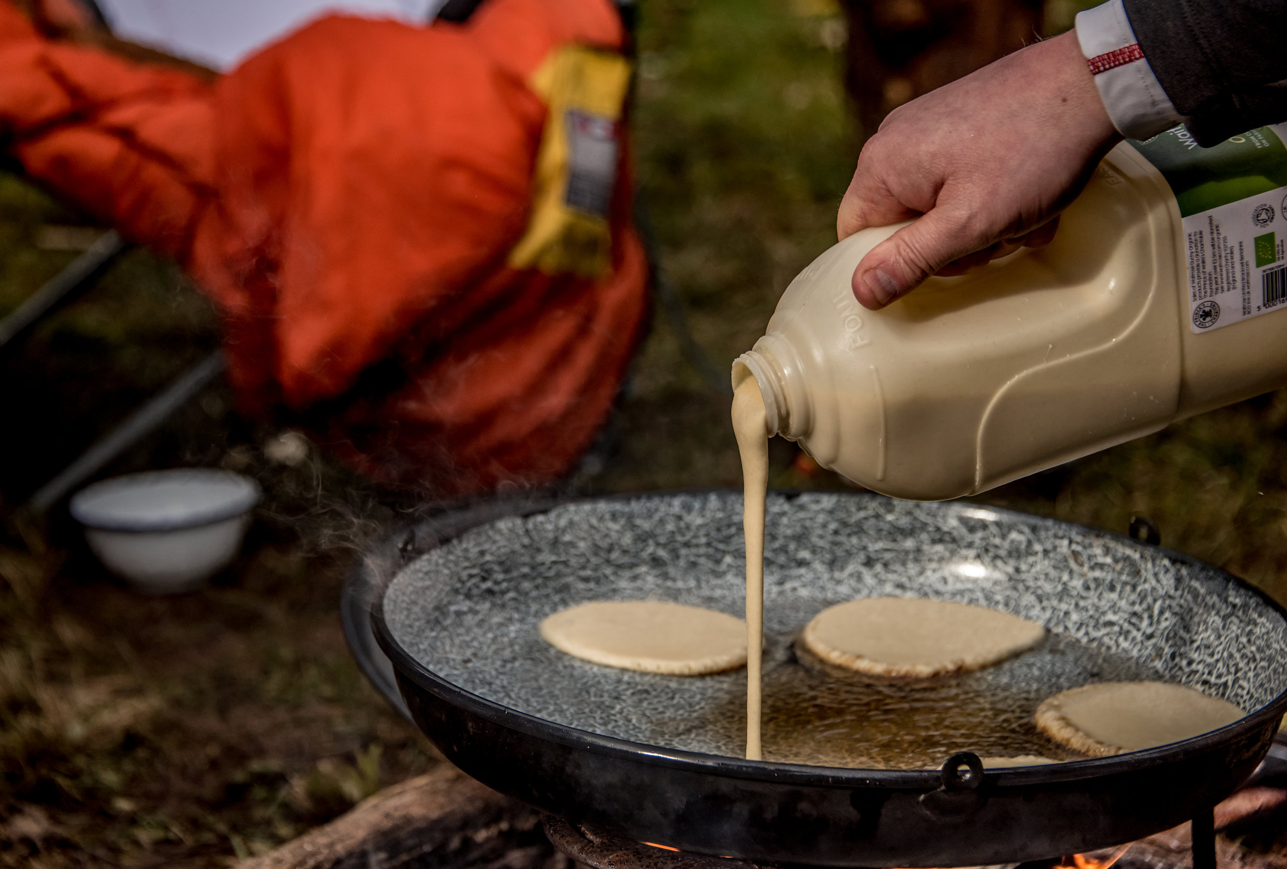 Go Wild Forest School Level 3 Training campfire cooking pancakes.jpg