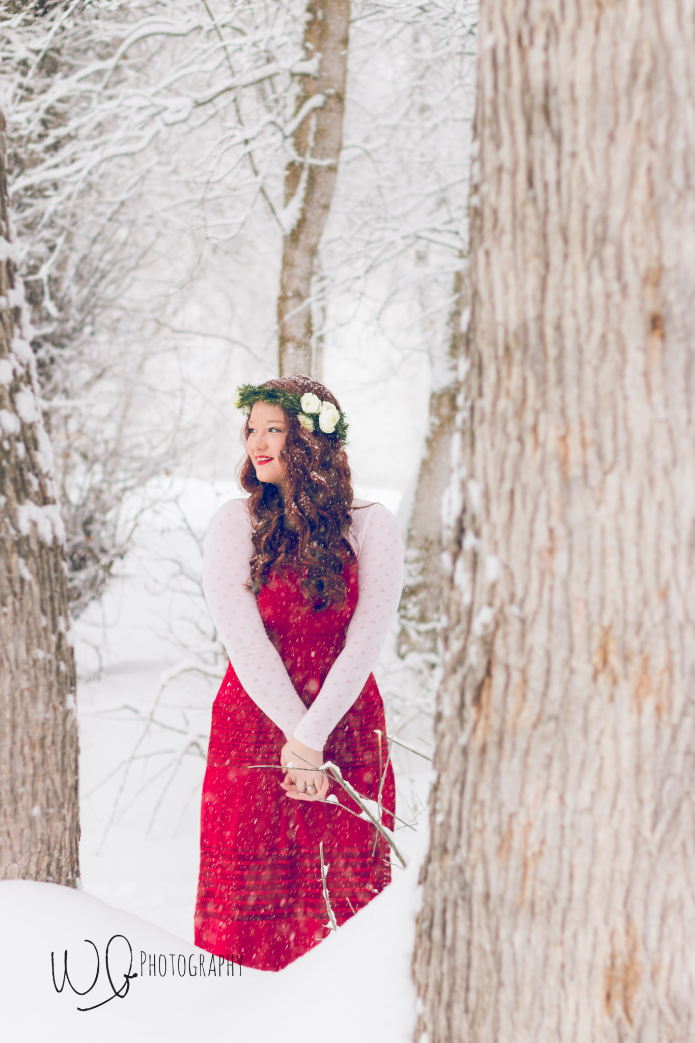 Senior photos, winter photo shoot