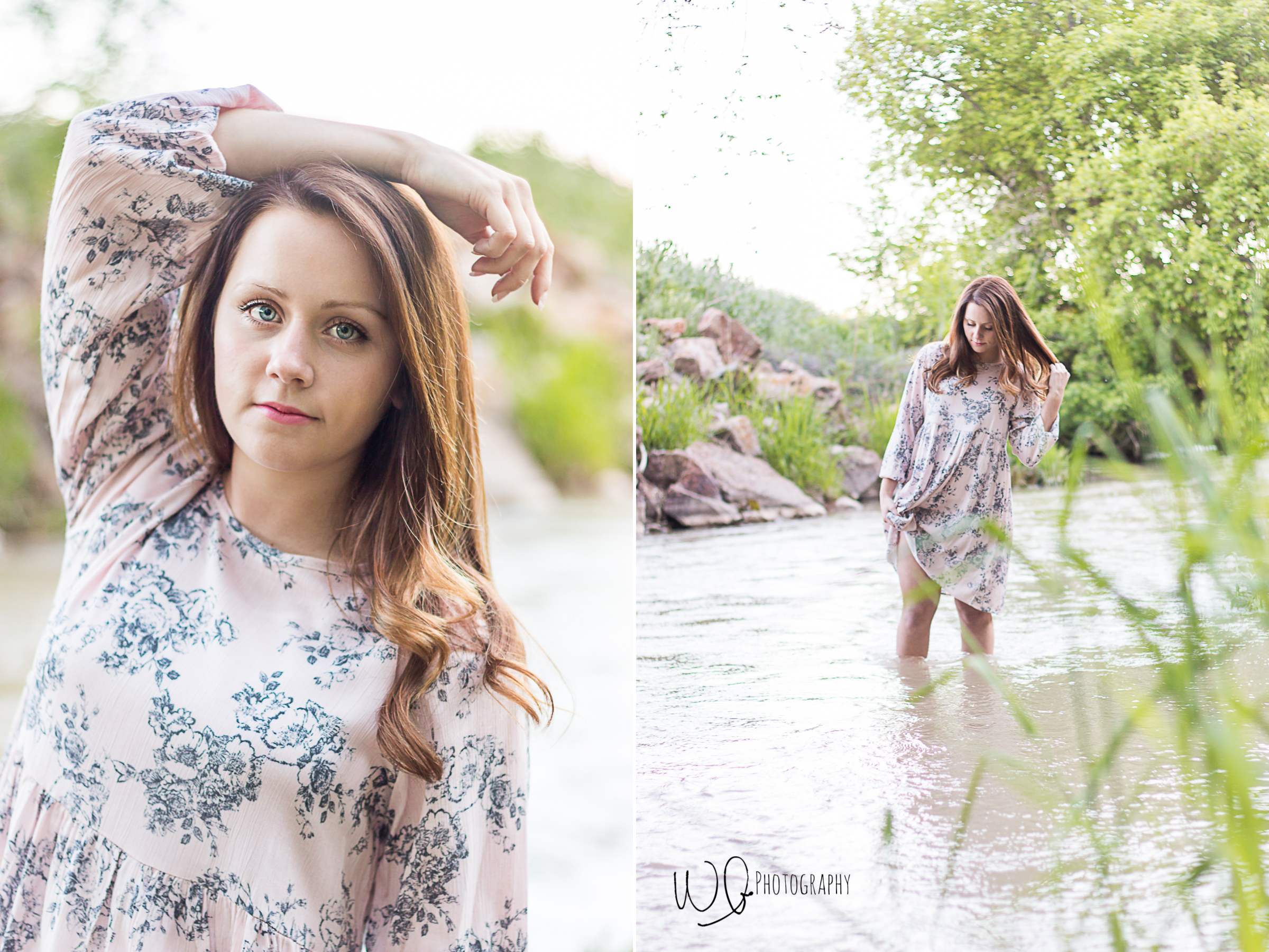 Senior pictures in water