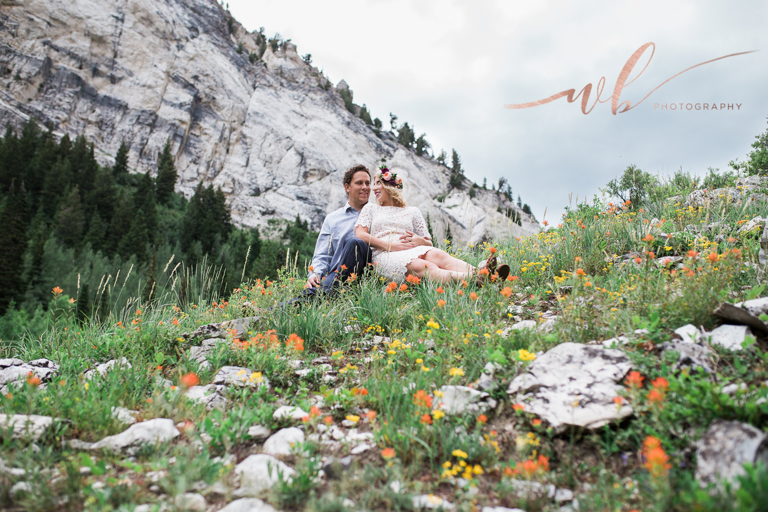 wild flower engagements