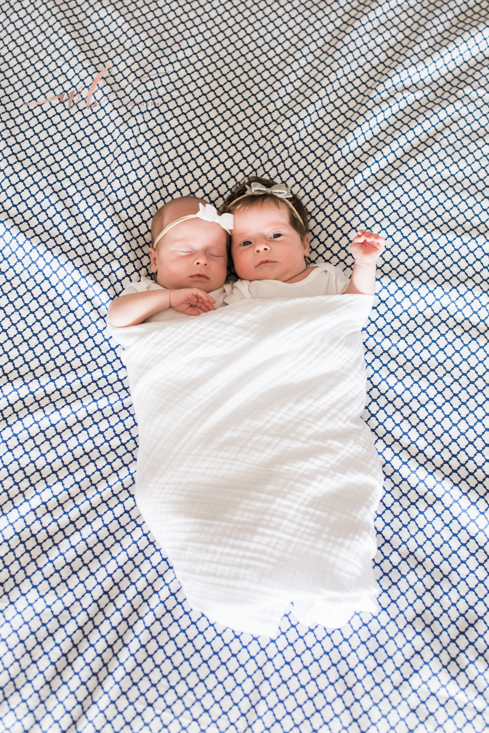 twins swaddled