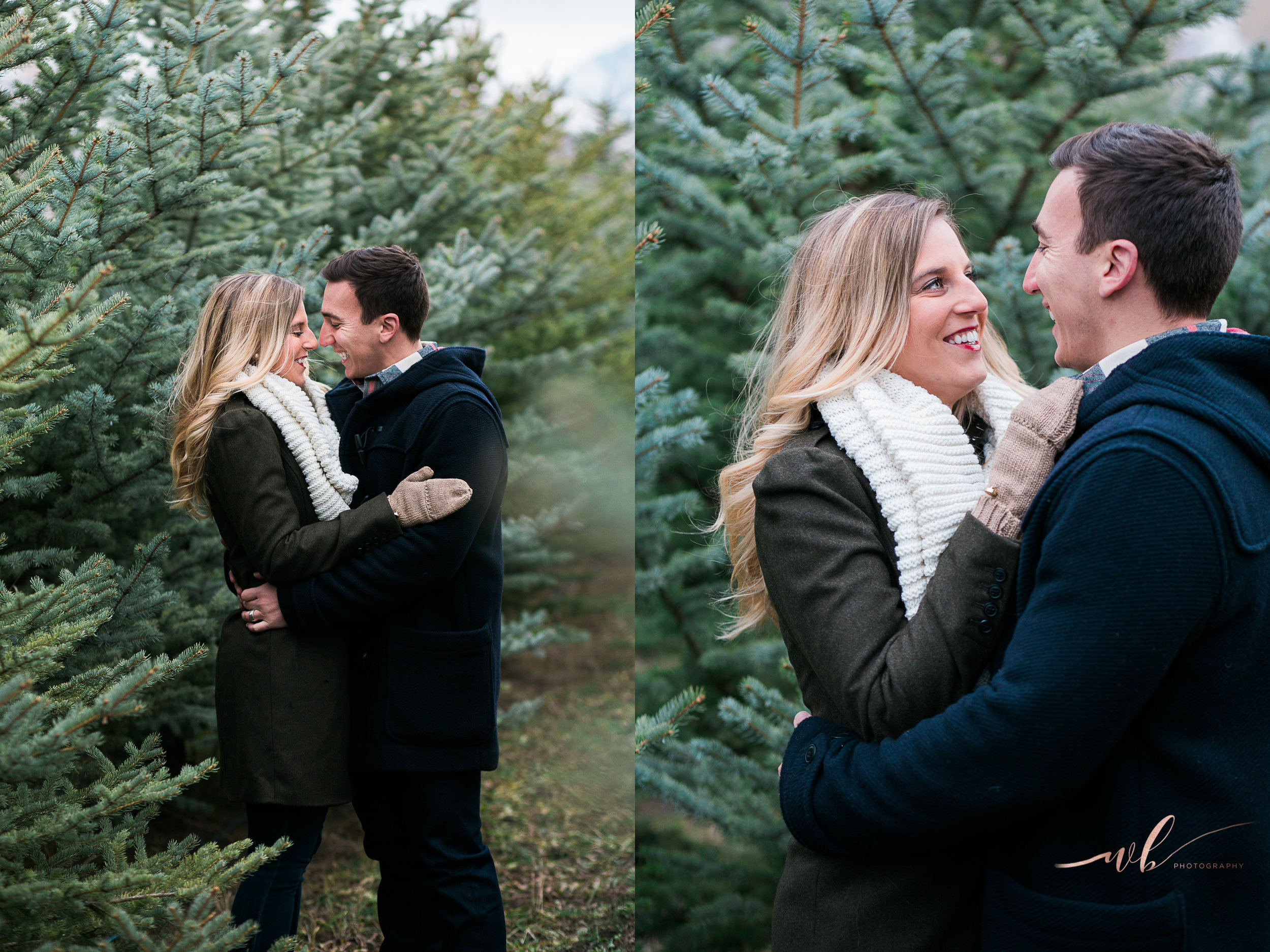 Husband and wife winter photo shoot