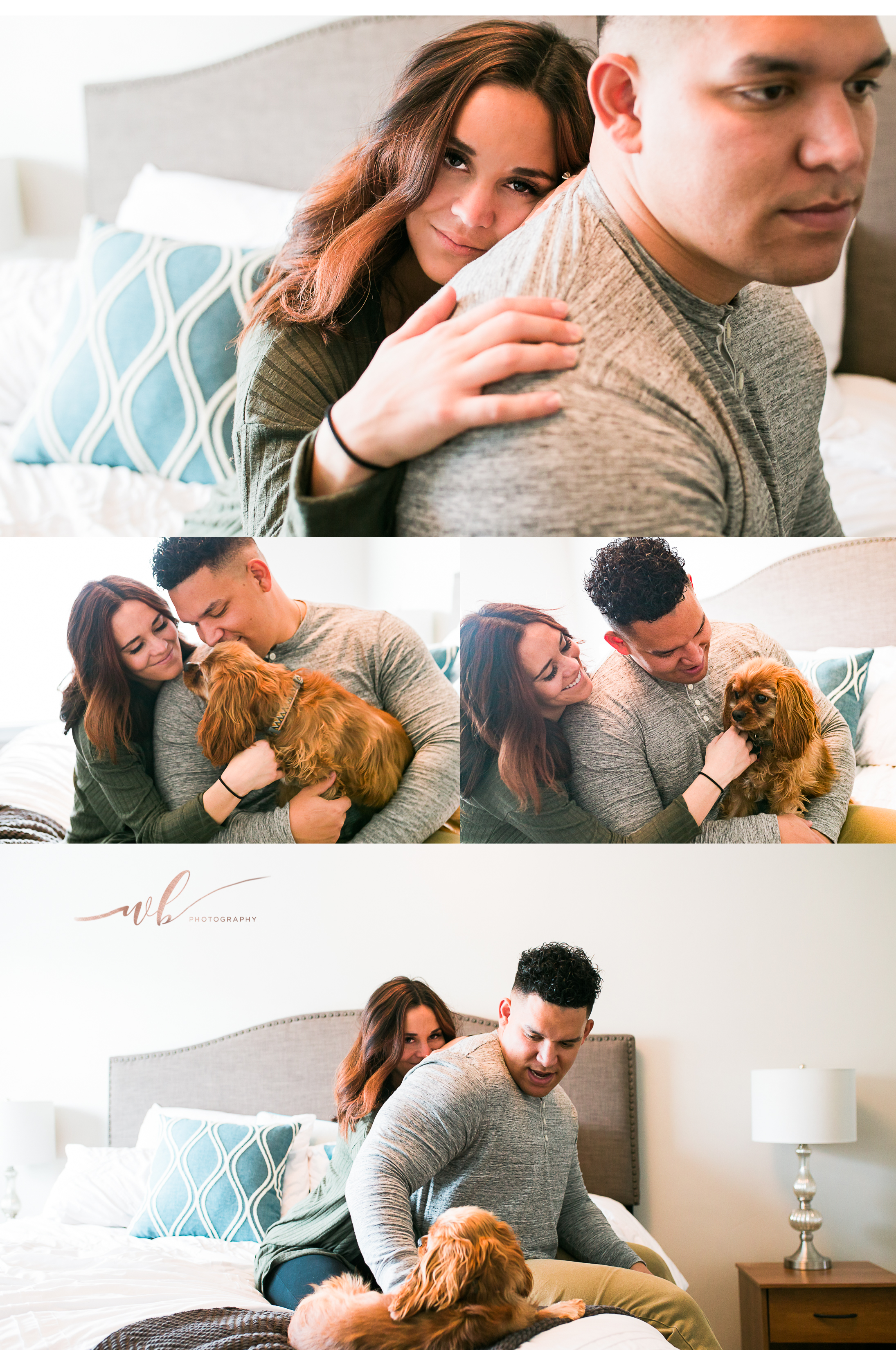 husband and wife anniversary photos in home