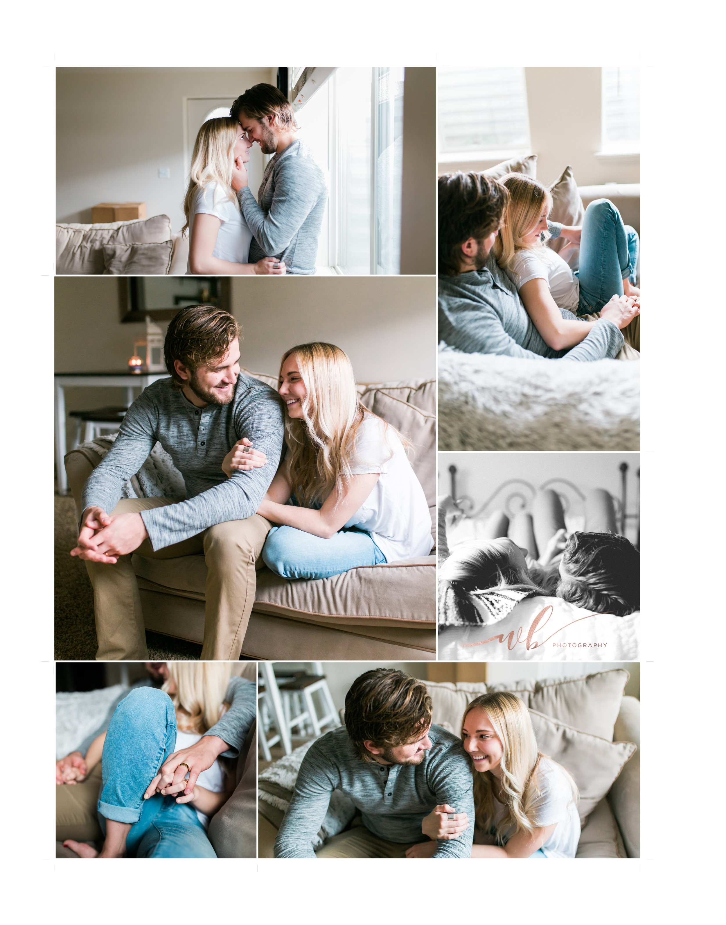 lifestyle in home couples photo shoot