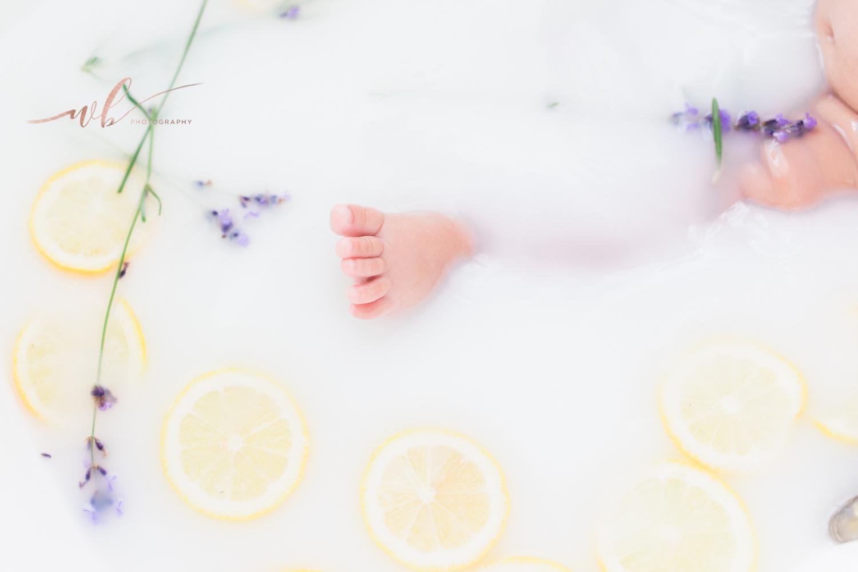 lemon and lavender milk bath