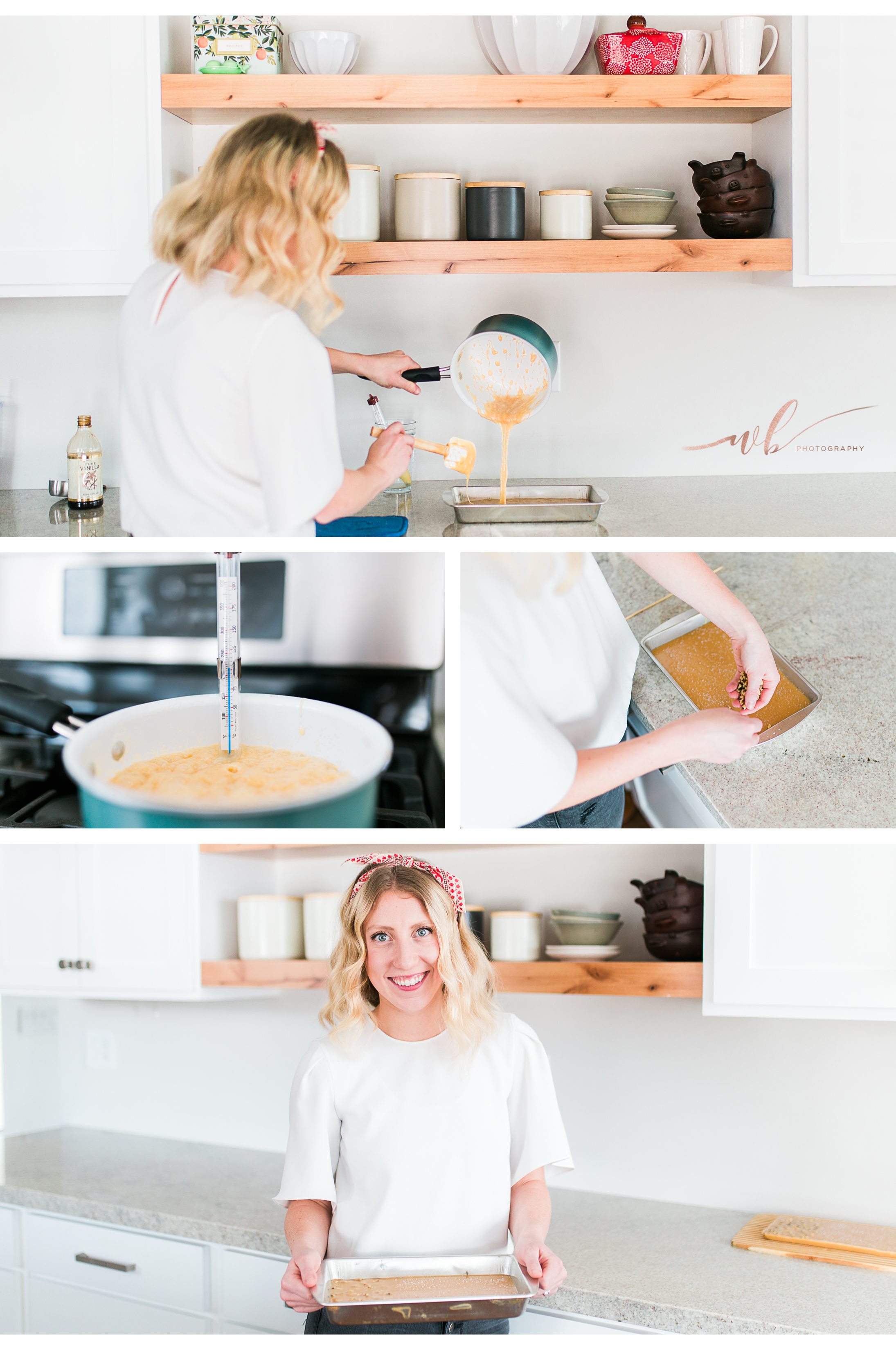 baking photo shoot