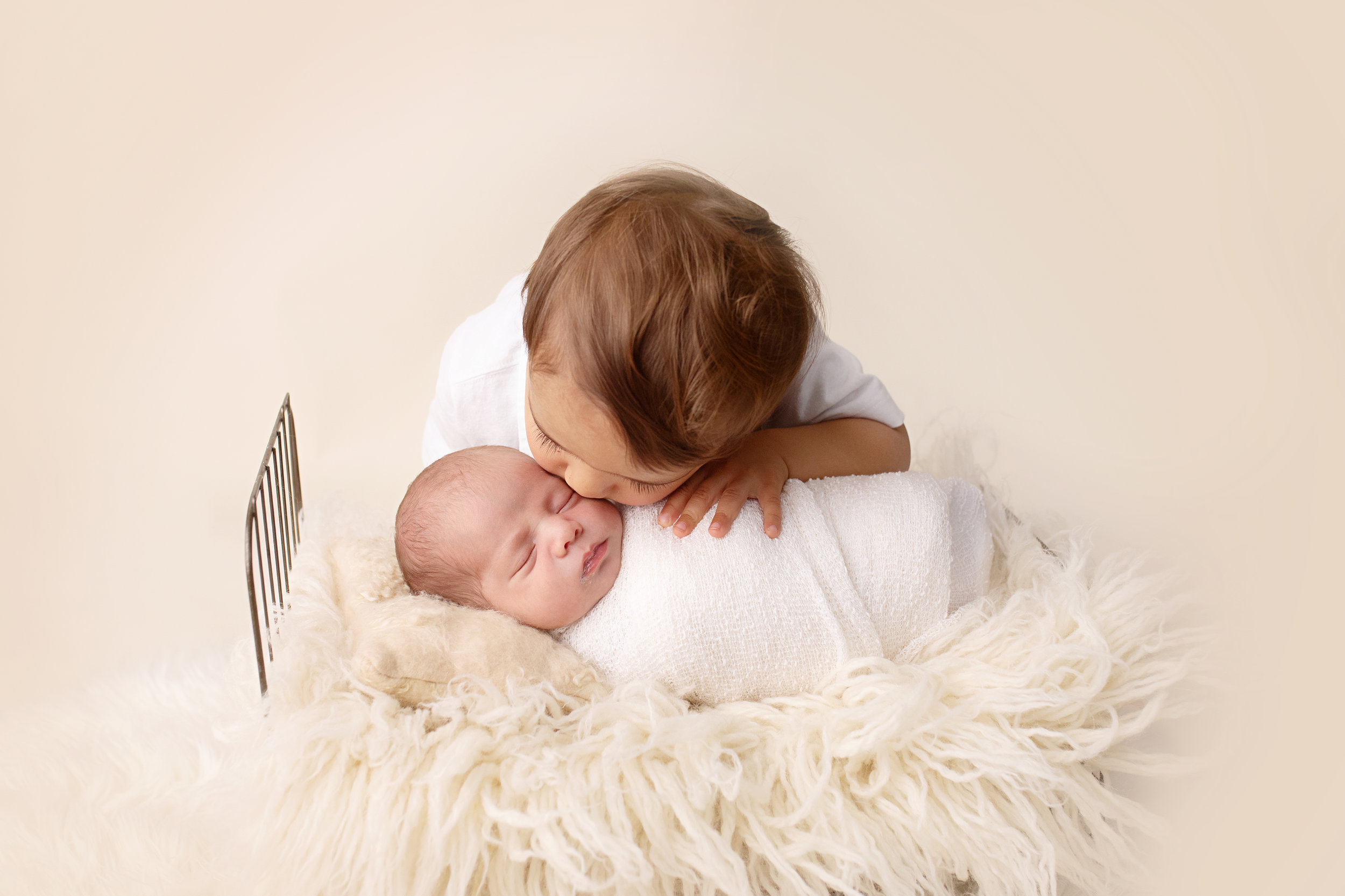 newborn and toddler sibling photo