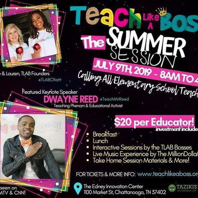 """For The Kids, For The Culture, For The Love."" • It's not easy being an educator, but these amazing educators gave up a day in their precious summer to come and learn how to be better teachers, and intern, better people. You have to #TeachLikeABoss! Major love and light to Mr. Dwayne Reed (@TeachMrReed) for his energy and insight, sowing Light into others! #TLAB #FloorFiveAlive #AtTheEdney #CHA #GigCity #Teacherpreneur #CityOfCreators #OnATuesday"