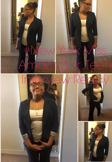 Trinity looking sharp as she heads into her Interviews for the 2016 National Miss Amazing Pageant in Chicago, IL.