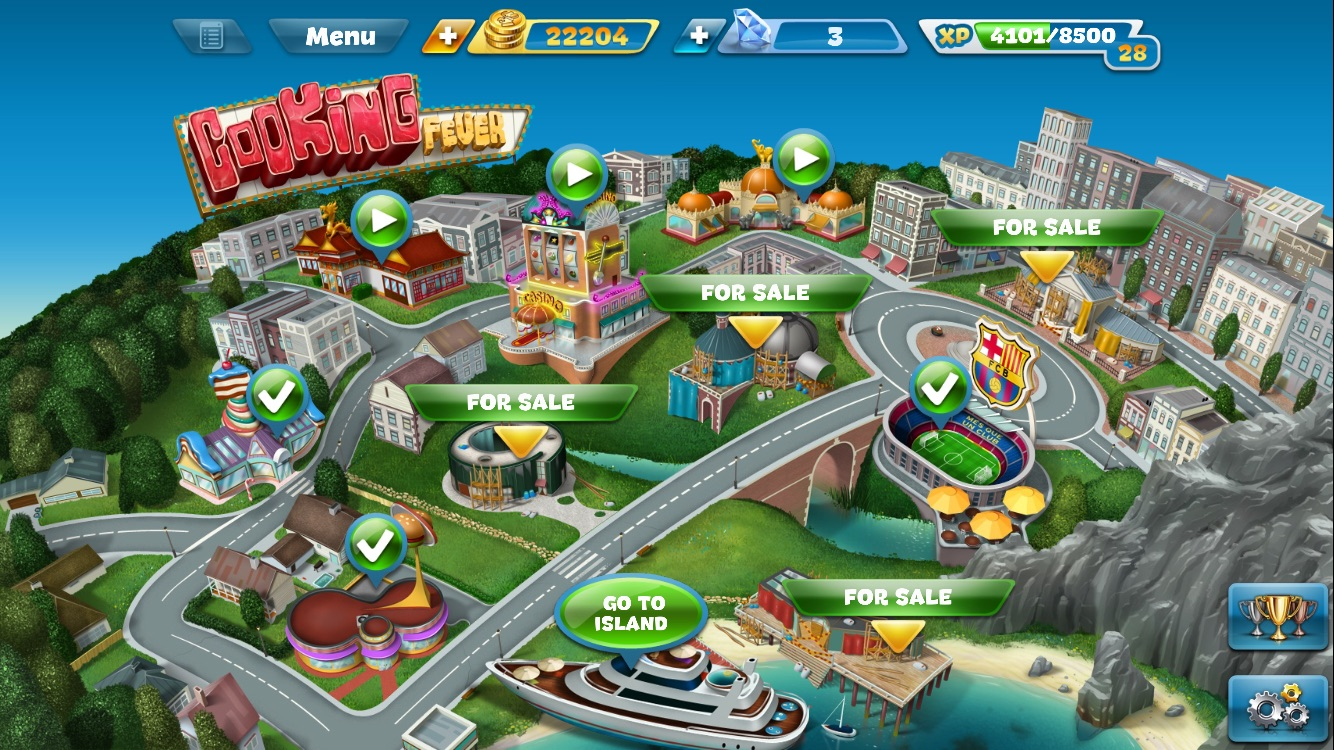 I've been reviewing the Cooking Fever App on my iPhone. It's the first App game I've have played for a couple of years,since Candy Crush. Cooking Fever is a fun game where you build a world of different restaurants and it's rather addictive.