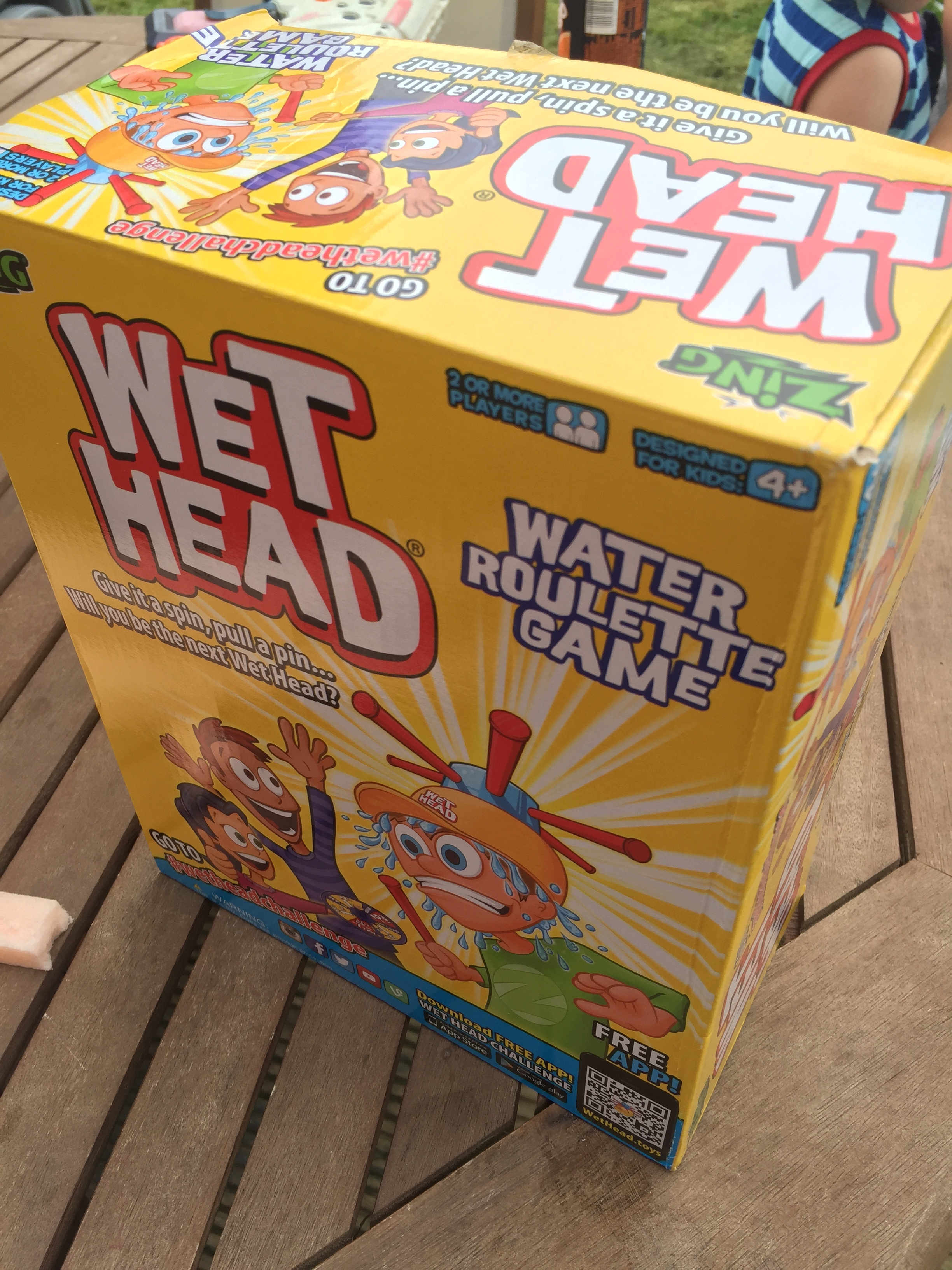Water games are probably a child's favourite to play (they are in this household), there is something about getting wet or getting your siblings/parent wet. From water fights,to now Wet Head, water games involve a lot of laughter.