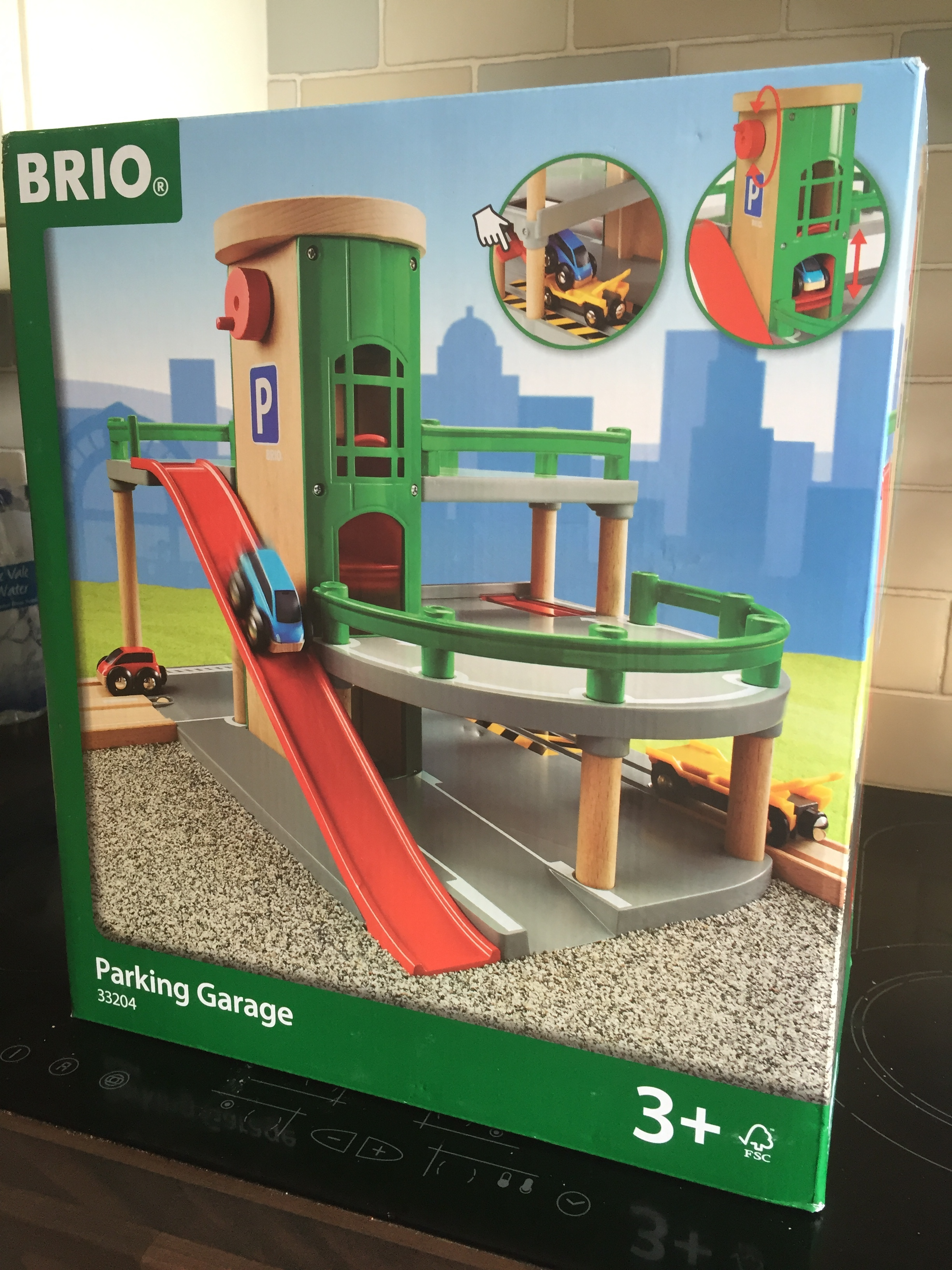 The Parking Garage Set from Brio is the perfect addition to your BRIO collection. If you have a wooden train set this set will compliment it perfectly. If you don't have a wooden train set this would be a great starter to building your own BRIO wooden toy city.