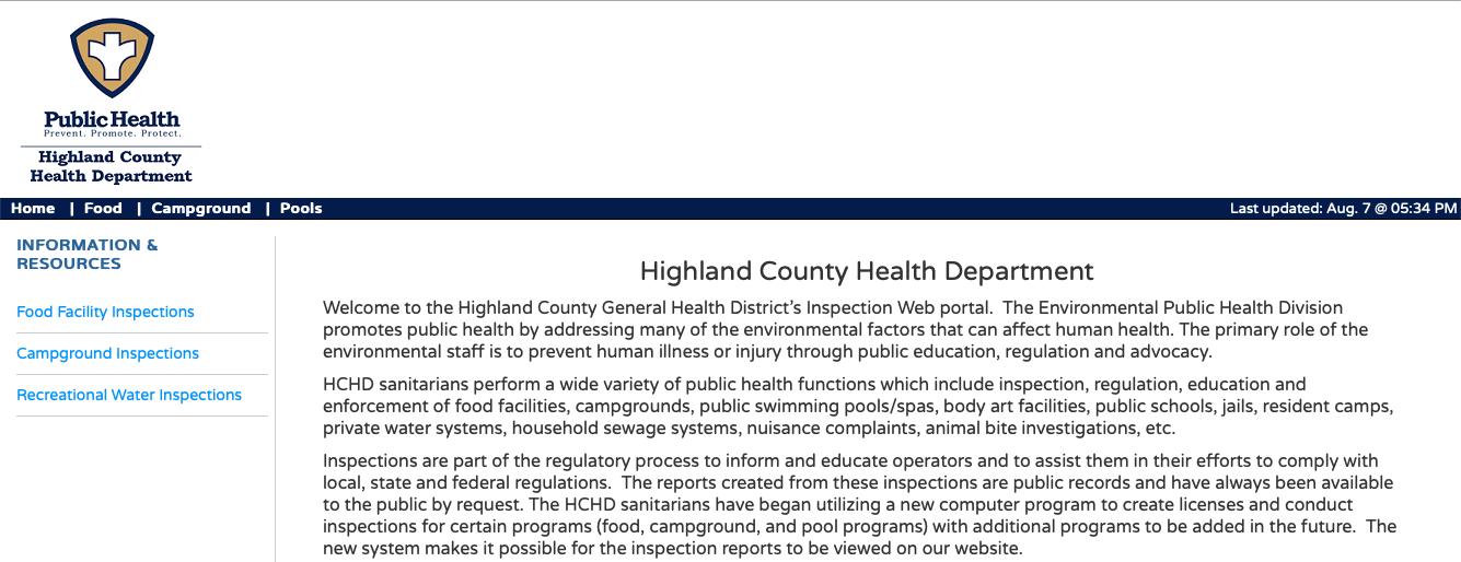 Screenshot of HealthSpace Program