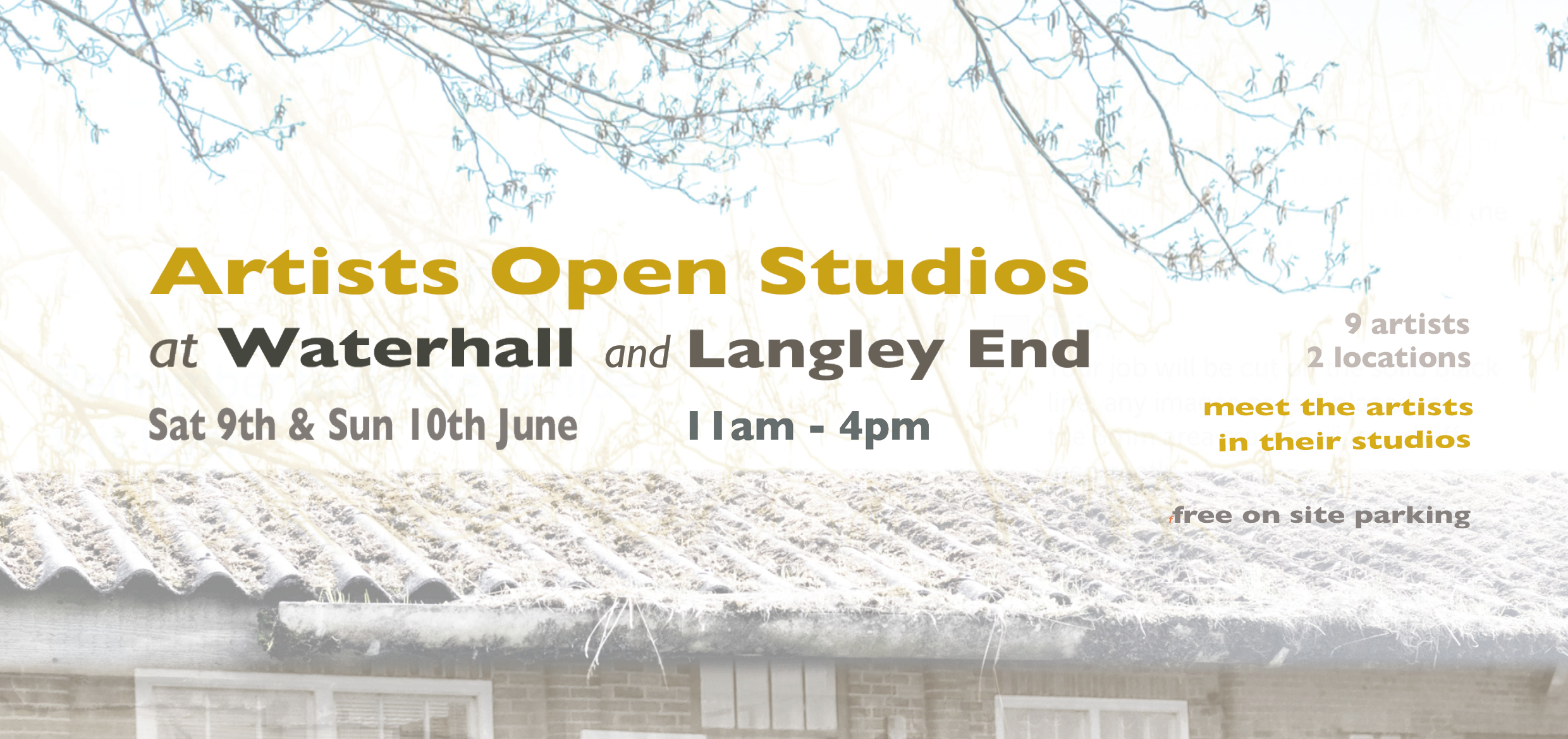 I'll also be opening my own studio at Waterhall Farm, in Whitwell along with 4 of my fellow artists on the same site on Saturday 9th June and Sunday 10th June.     The artists at Langley End Studios, just up the road, are also joining us and opening their studios on Saturday 9th June.     Times for both events are 11 am to 4pm.    more specific details and images to follow soon.