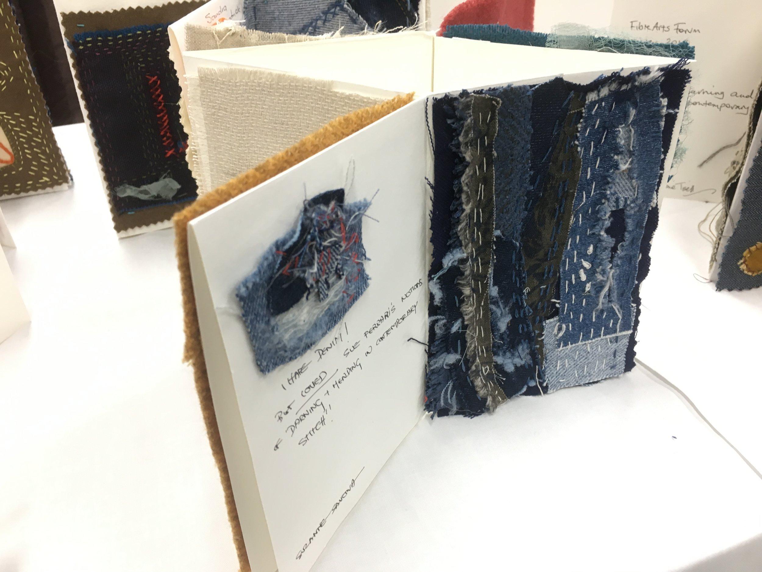 Book piece made in Sue Ferrari's Embroidery workshop, Ballarat