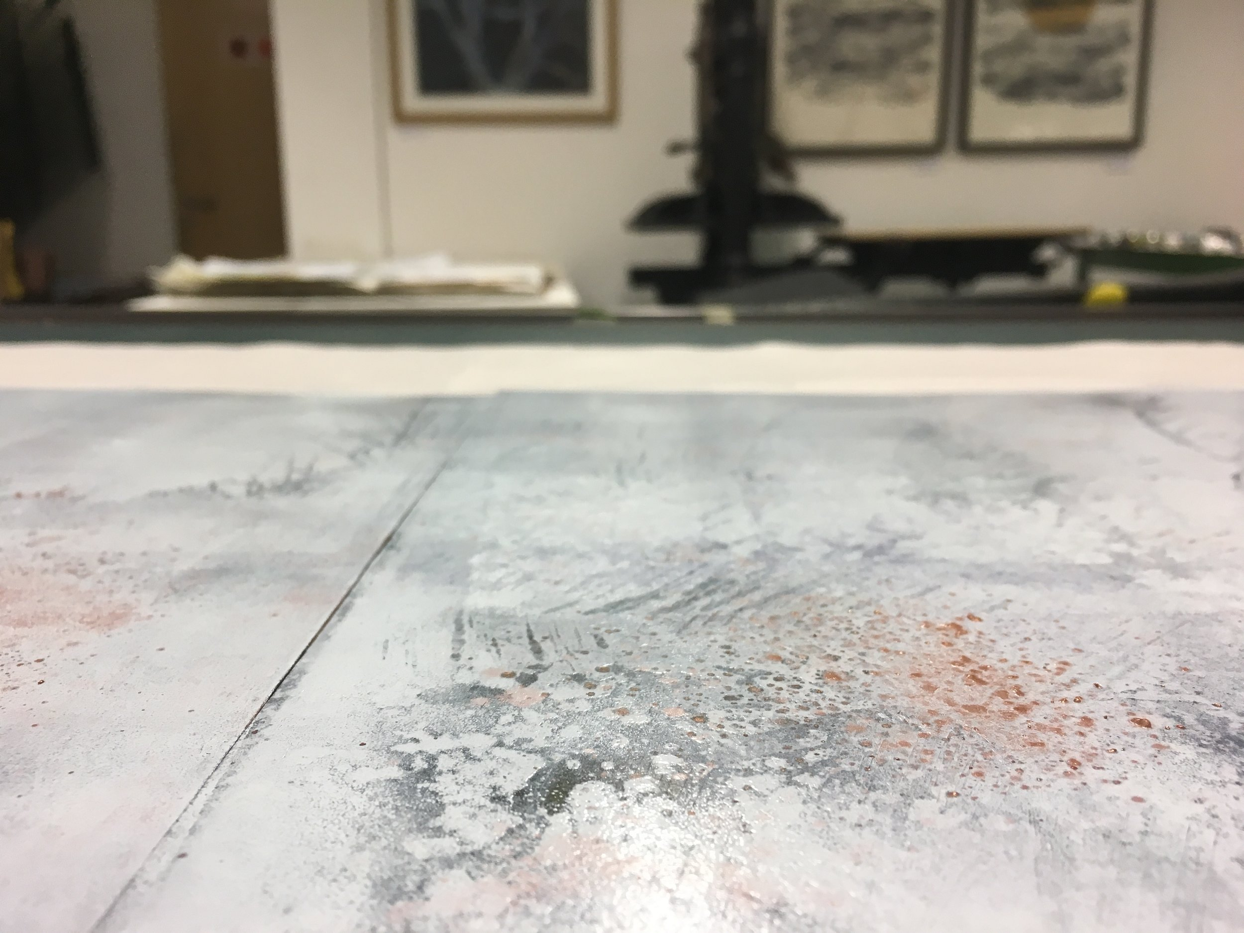 Digswell Print Studio August 2018. Working on some new plates.