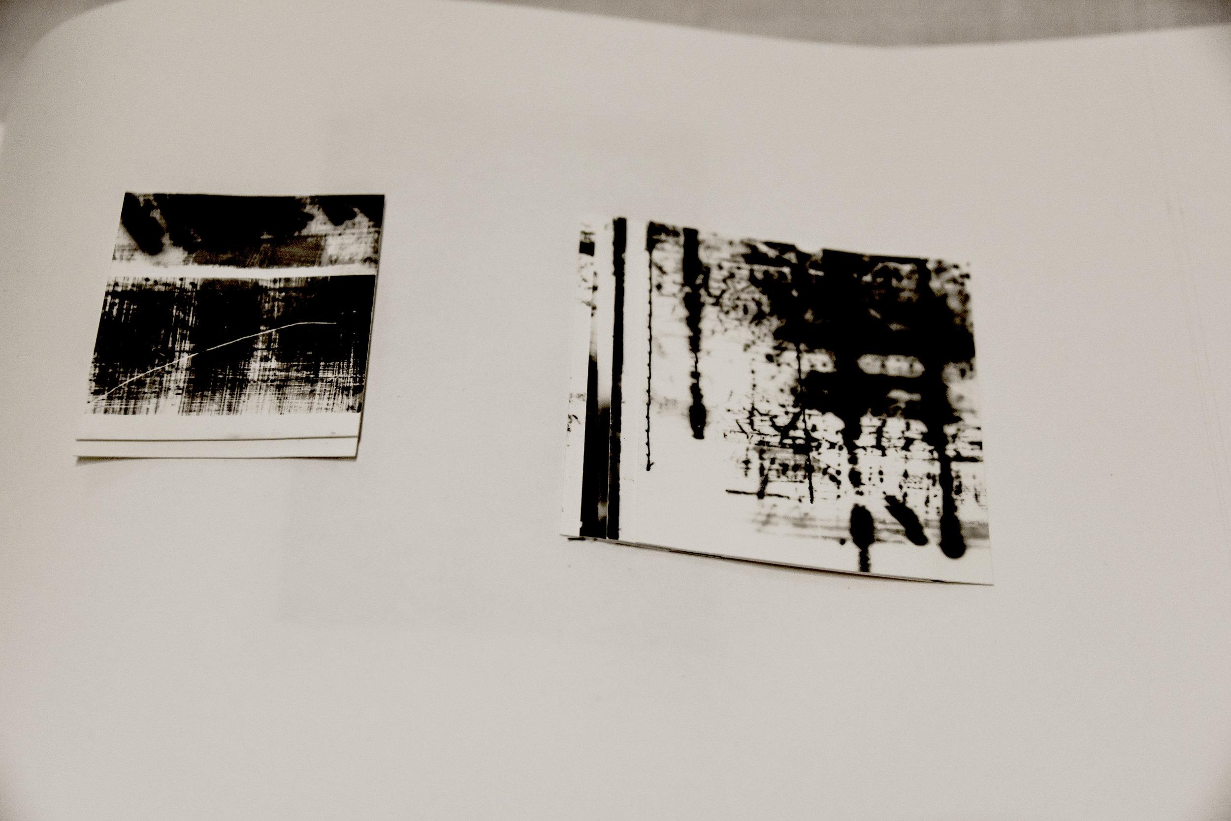 Small Photogram collages using machine stitch