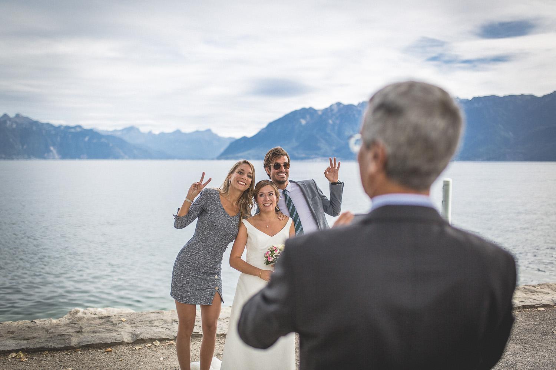 Photo groupe avec la mariée