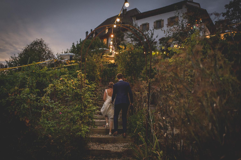 Arrivée des jeunes mariés