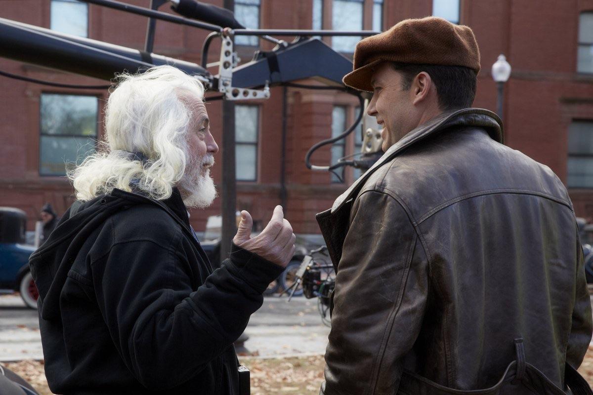 Meeting of the minds: Cinematographer Robert Richardson and Ben Affleck, enjoying a laugh on set, between takes.