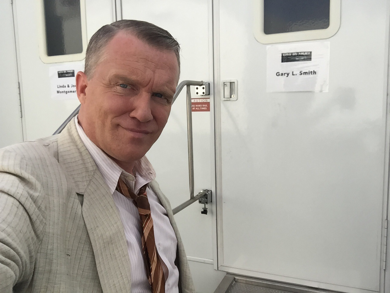 AMH as bootlegger 'Gary L Smith',  in the forthcoming Warner Brothers film, 'Live by Night.'