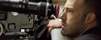 Affleck setting up a shot.