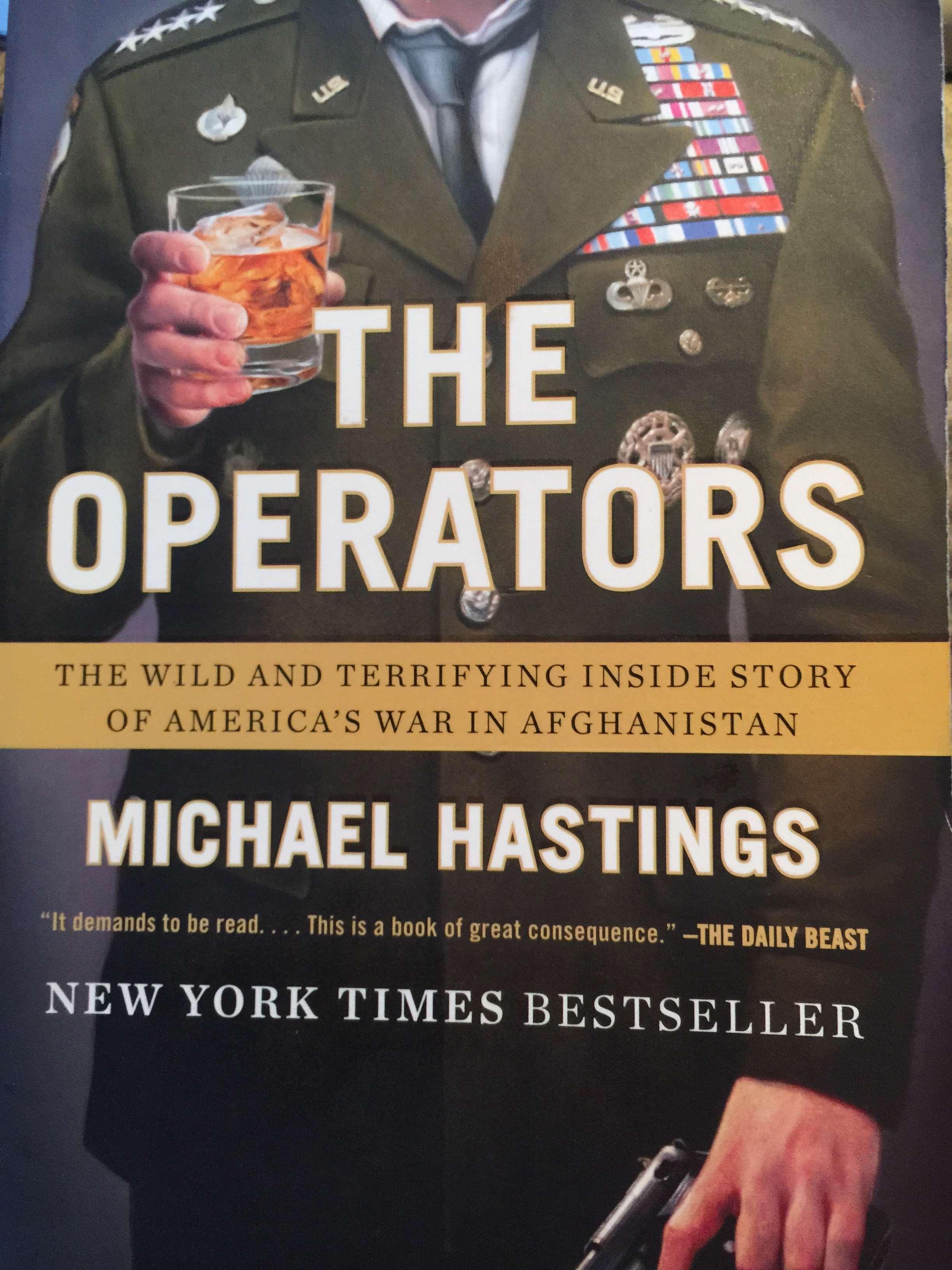 'The Operators': thebook that 'War Machine' is based on. The director David Michod was hired by Plan B be & Netflix to adapt the book and direct the film.