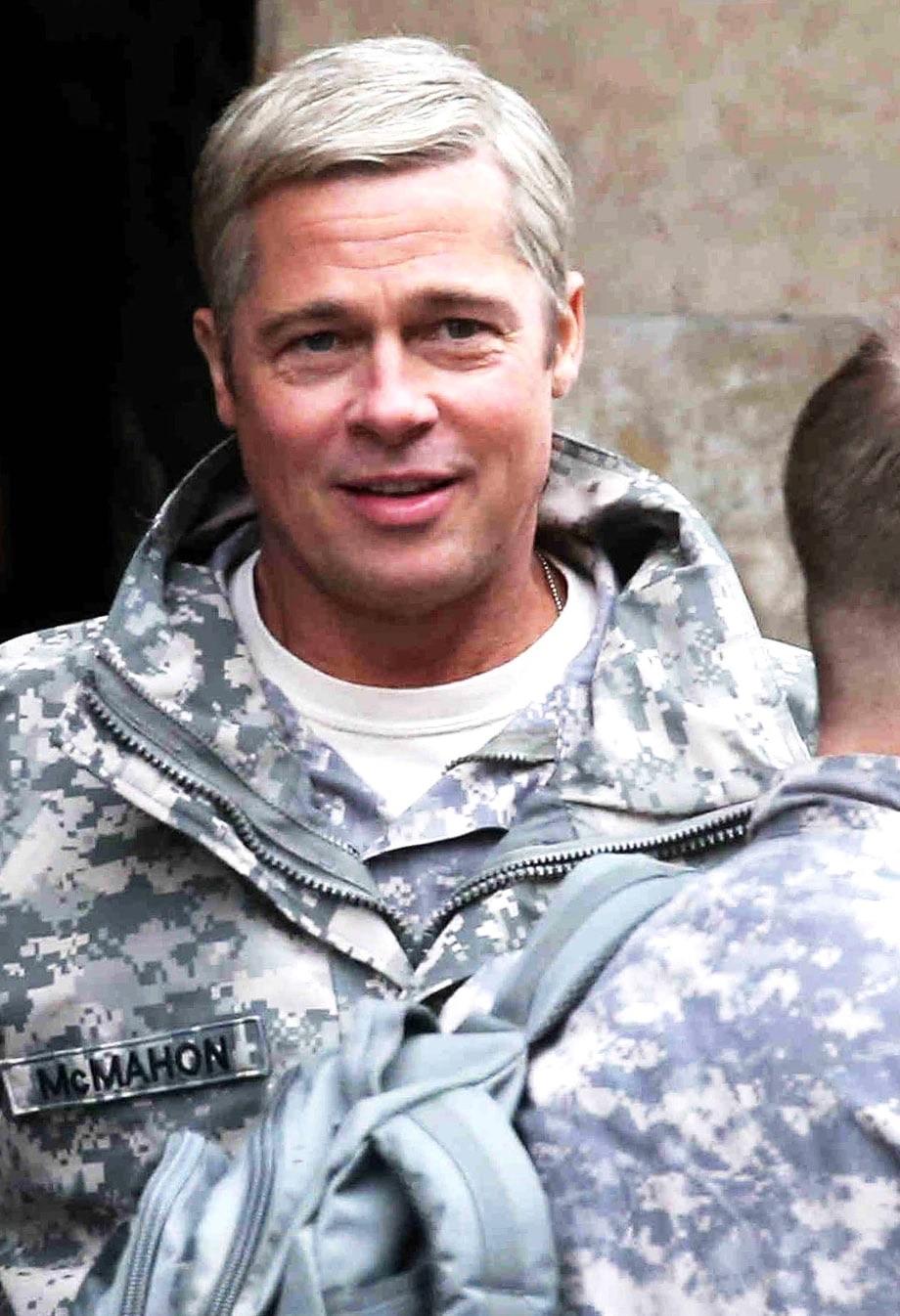 Brad Pitt is 'General Glenn McMahon' in the Netflix original film 'War Machine'.