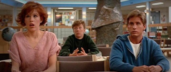 Molly Rigwald, Anthony Michael Hall and Emilio Estevez.