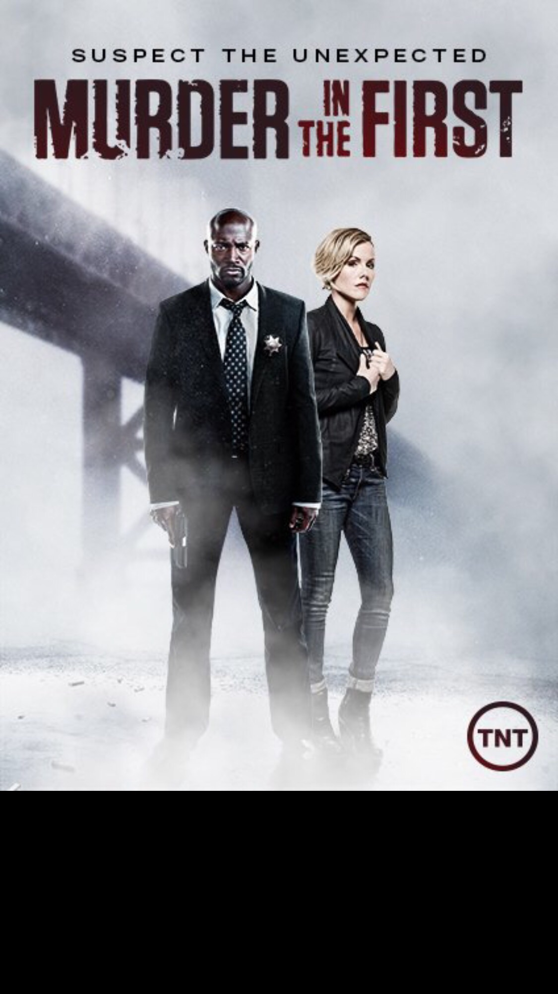 """Good people, good actors: Taye Diggs and Kathleen Robertson star in the hit TNT series, """"Murder in the first"""", which is currently filming its third season in Los Angeles."""