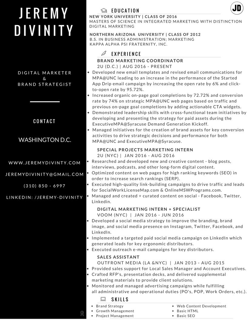 Jeremy Divinity Resume
