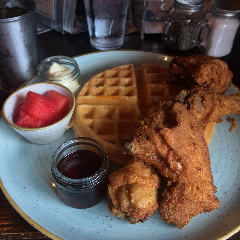 Fried Chicken & WafflesLocation: Somewhere in Arlington Virginia -