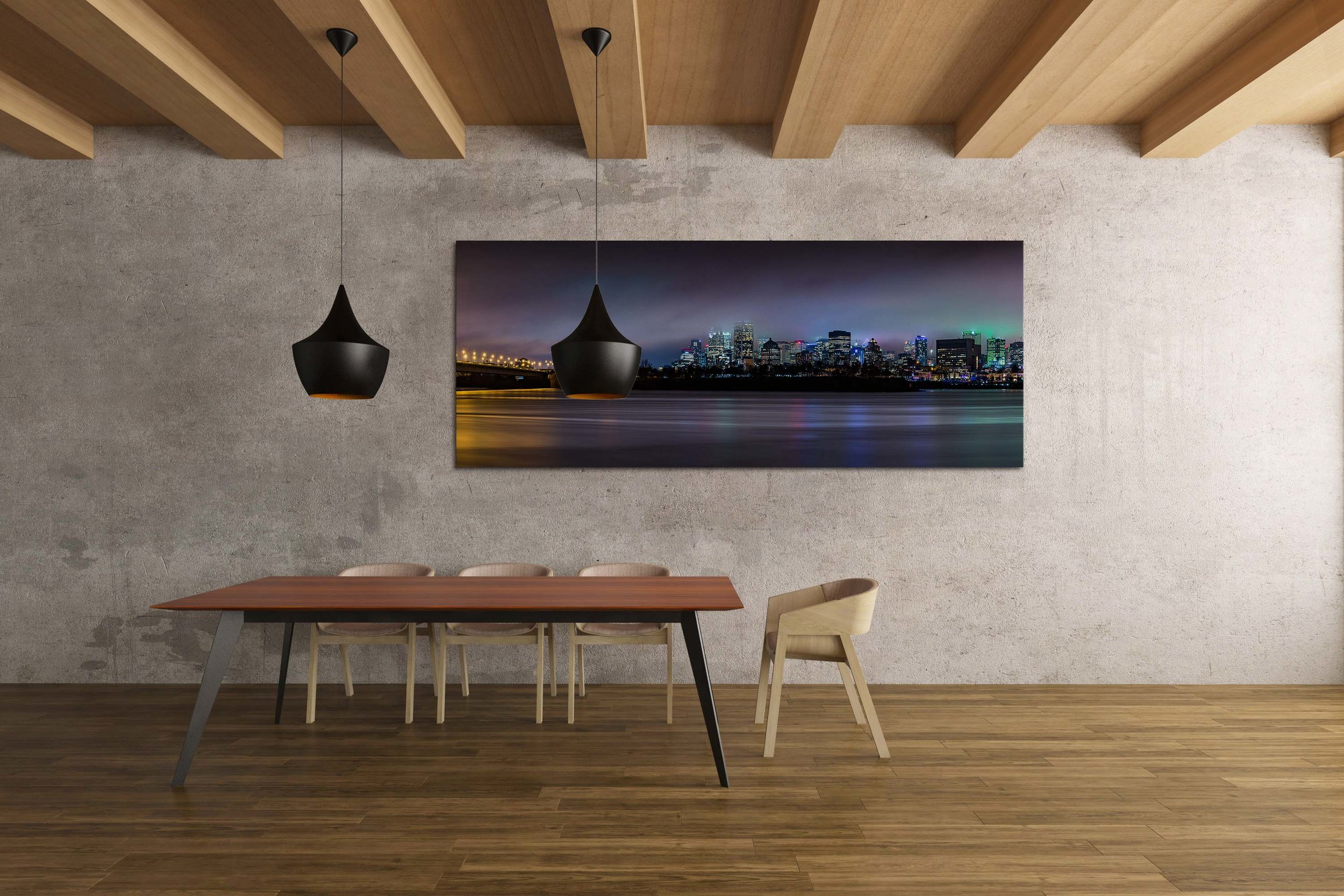 Montreal Skyline Panorama - Mandy & Randy Prints