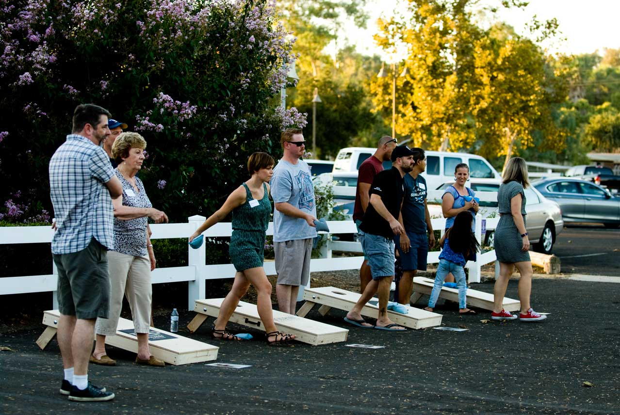 - This year, the goal for our 2nd annual BBQ & Cornhole Tournament Fundraiser is to raise $30,000 which will enable us to sustain those therapeutic services our survivors receive on the journey toward healing that they have begun. The proceeds from this event will support weekly trauma therapy, ongoing education & employment support, life skills training and a safe place for survivors to live for up to two years while establishing safety.