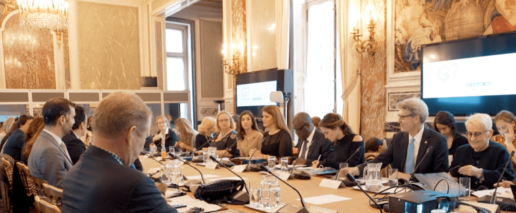 In the image above, Dr. Kaufman can be seen participating in the recent G7 Gender Equality Advisory Council Meeting in Paris alongside actor/activist Emma Watson, Nobel Peace Prize winners Denis Mukwege & Nadia Murad, French gender equality minister Marlene Schiappa, and Katja Iversen of Women Deliver, among other amazing activists within the Gender Equality space.