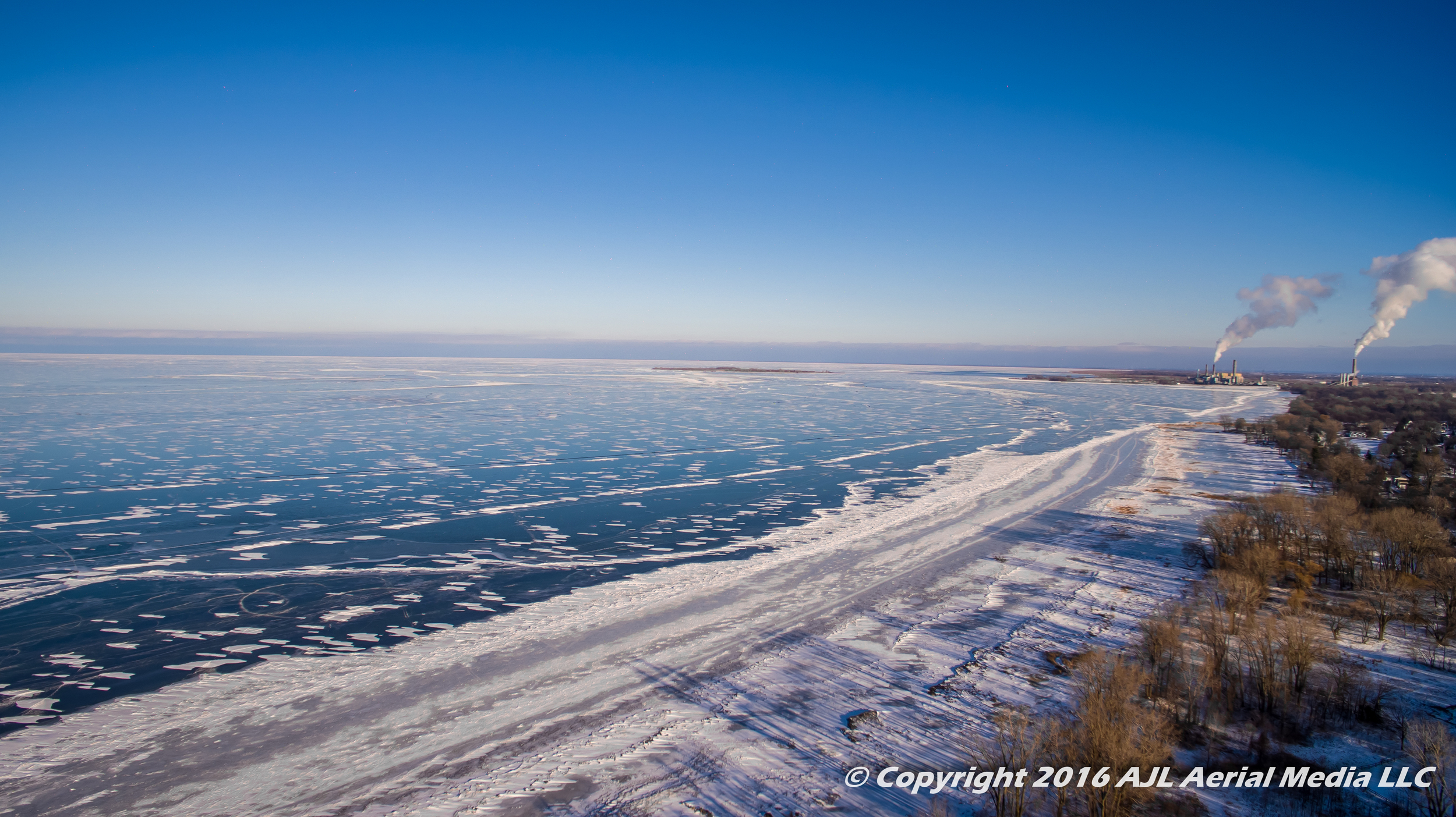 Consumers Energy from Bay City State Park 2016 Aerial