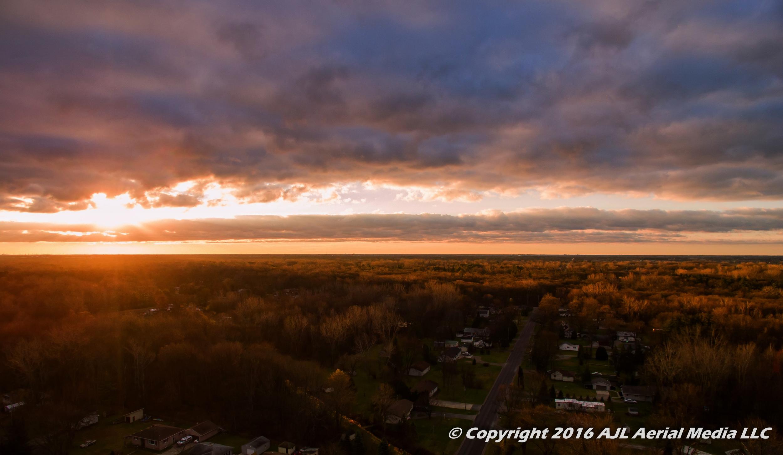 Kawkawlin MI Sunrise Aerial