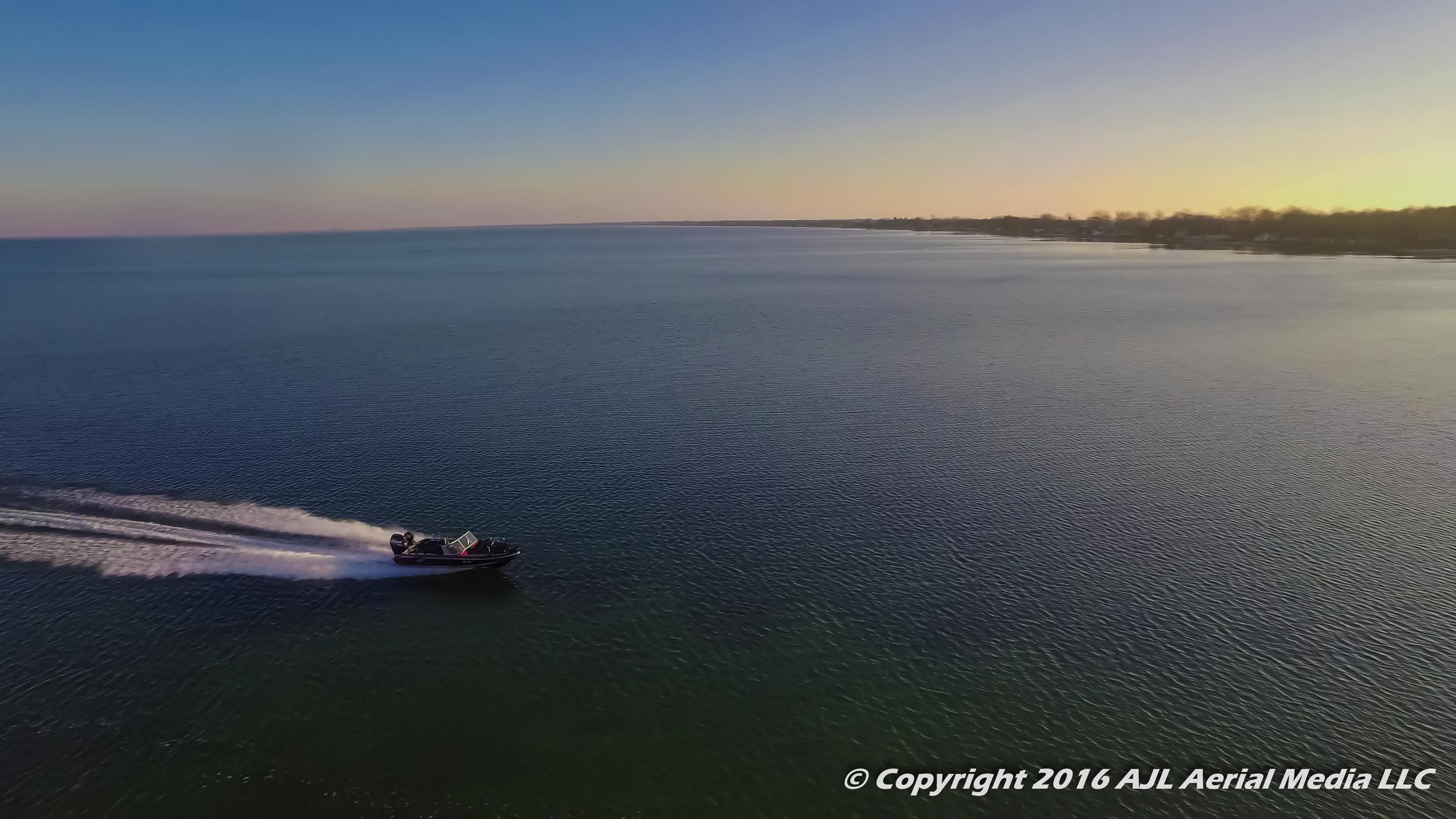 Saginaw Bay Boat Ride Aerial